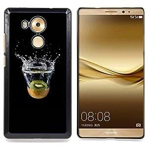 - Kiwi Splash - - Cubierta del caso de impacto con el patr??n Art Designs FOR Huawei Mate 8 Queen Pattern