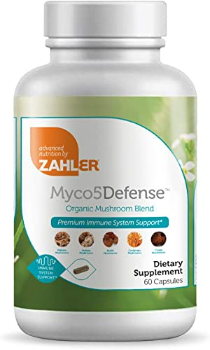Zahler Mcyo5Defense, Advanced Mushroom Supplement, Premium Immune System Support, Certified Kosher, 60 Capsules