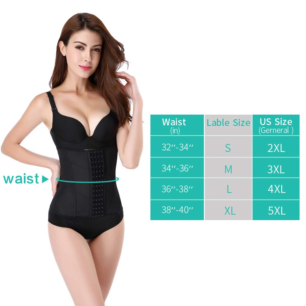 Picotee Women's Waist Training Cincher Underbust Girdle Corset Body Shaper Waist Trainer(M)