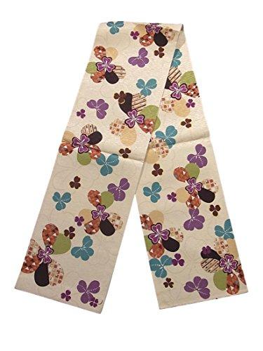 スクラッチ組立寄付する全通 袋帯 正絹 花と古典文様