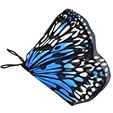 Novia's Choice Kids Butterfly Wing Shawl Holloween Costume Play Cape Dress Up Dance Photo Shooting Wings(Blue)