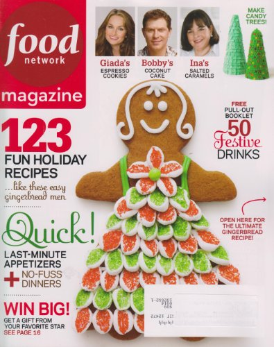 Food Network Magazine December 2010 123 Fun Holiday Recipes (Quick Last minute appetizers; Pullout booklet 50 Festive Drinks), Vol 3 Number 10)