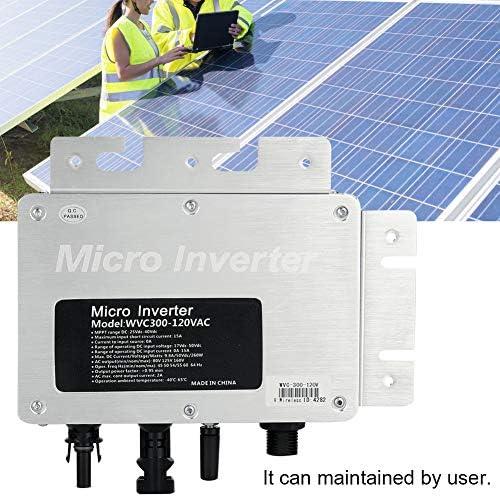 Jadpes Solar Inverter, 300W Intelligenter, langlebiger Solar-Photovoltaik-Wechselrichter mit hoher Effizienz für das Stromerzeugungssystem 220V