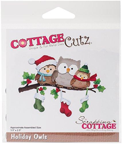 CottageCutz CC-339 Dies-Holiday Owls