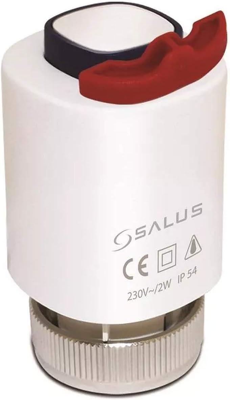 Salus T30NC230 Actuador Electrotérmico 230V para Ahorro de Energía, Regular Sistemas de Calefacción y Refrigeración de Superficies