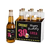 GiftsForYouNow Cheers to Personalized Beer Label and Carrier Set