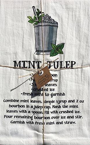 Mud Pie Flour Sack Kitchen Towel, Mint Julep Recipe (Recipe Towel)