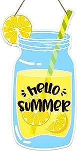 PETCEE Hello Summer Door Sign,6