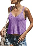 Dellytop Womens Casual Sleeveless Sweaters V Neck Tank Tops Loose Plain Knit Cami Shirt