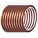 uxcell 10Pcs 3mm Width 33M Length High Temp Heat Resistant Polyimide Tape Brown