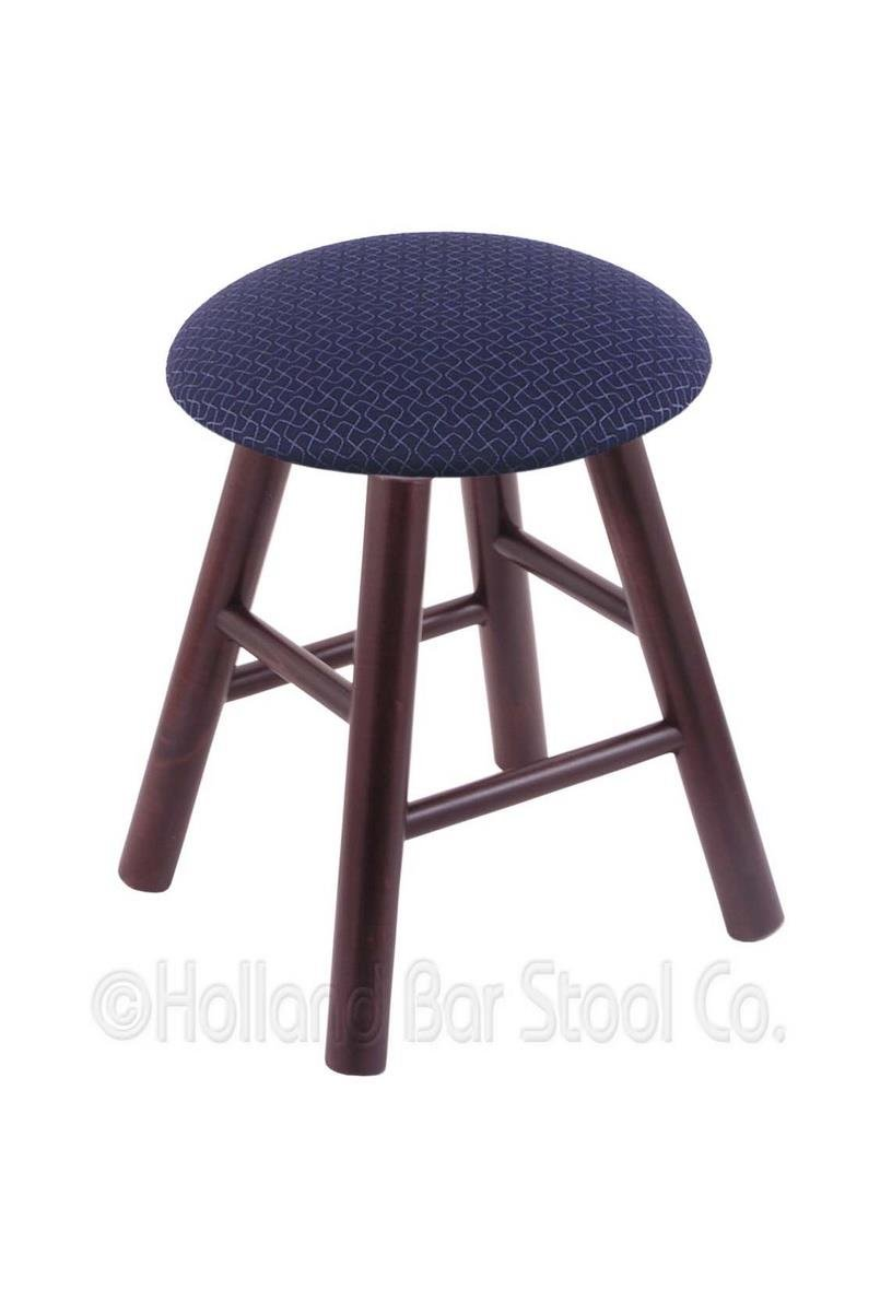 Maple Vanity Stool in Dark Cherry Finish with Axis Denim Seat