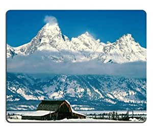 Grand Tetons Wyoming National Park Mouse Pads Customized Made to Order Support Ready 9 7/8 Inch (250mm) X 7 7/8 Inch (200mm) X 1/16 Inch (2mm) High Quality Eco Friendly Cloth with Neoprene Rubber MSD Mouse Pad Desktop Mousepad Laptop Mousepads Comfortable Computer Mouse Mat Cute Gaming Mouse_pad by icecream design