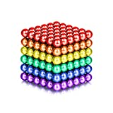 LiKee 5MM 216 Pieces Magnetic Sculpture Magnet Building Blocks Fidget Gadget Toys for Stress Relief, Office and Home Desk Decor, Cool Gadget for Adult,Man,Women (Colorful)