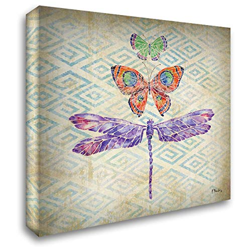 (Enchanting Wings II 28x28 Gallery Wrapped Stretched Canvas Art by Brent, Paul)