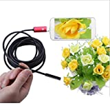 AllureEyes 2 In 1 USB Waterproof HD 1.3 Megapixels 7MM Endoscope Borescope Inspection Camera for Android Phones with OTG and UVC Function, Android tablet, PC/laptop XP/Vista/Win 7/Win 8/Win 10