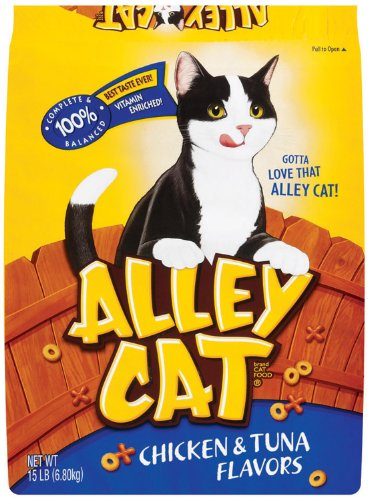 Alley Cat 15 Lb Chicken and Tuna Flavors Cat Food  292, My Pet Supplies