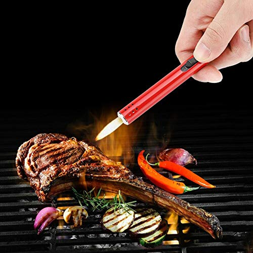 TTShonf Mini Portable Carrying BBQ Igniter Outdoor Gun Lighter Barbecue Charcoal Gas Cooker Stove Kitchen Metal Camping Hiking Picnic Light Blue by TTShonf (Image #2)