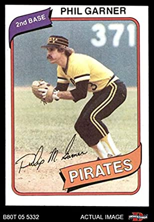 Amazoncom 1980 Topps 118 Phil Garner Pittsburgh Pirates