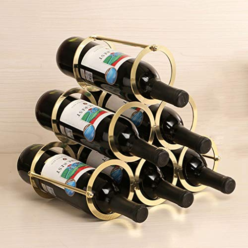 - Great St. 6 Bottles are Removable Metal Wine Rack Mesa Storage Rose Gold - 30×17×28cm