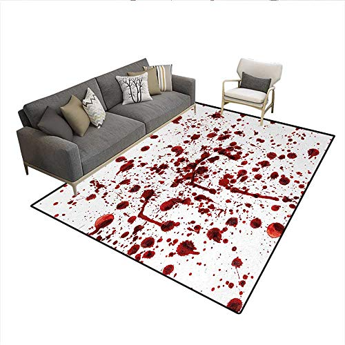 Rug,Splashes of Blood Grunge Style Bloodstain Horror Scary