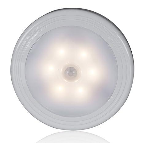 GCBTECH Luces con Sensor de Movimiento y Lampara nocturna LED con Batería, Fijar en Cualquier