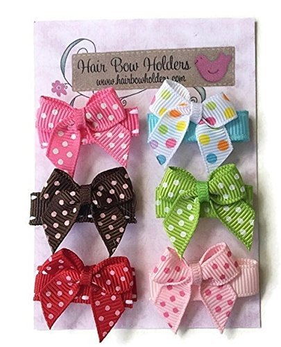 Baby Hair Bows Infant girl hair bows with VELCRO® brand hook and loop fasteners