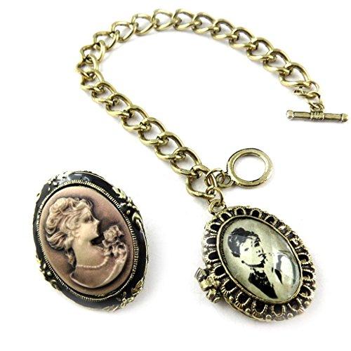 Belle Epoque Costumes (Necklace set creator 'Belle Epoque' (cameo bracelet + pin).)