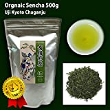 CHAGANJU- Uji Sencha Loose Leaf Green Tea, JAS Certified Organic, Japan, 500g Bag