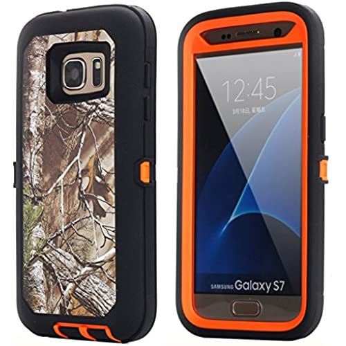 Galaxy S7 Case, AICase Heavy Duty Protection Shock Reduction / Bumper Case Shockproof Dirtproof Blet Clips Defender Camo Cover Case w/ Built-in Screen Protector Sales