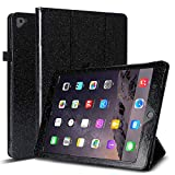 Case for iPad 9.7 - Glitter Trifold PU Leather Stand Cover with Auto Sleep Wake Function - Lightweight & Shockproof