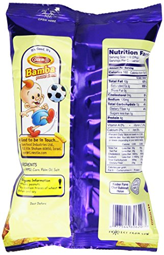 Bamba Peanut Butter Snacks All Natural Peanut Butter PB Corn Puffs, 1.0oz Bag (Pack of 1) by Osem (Image #3)