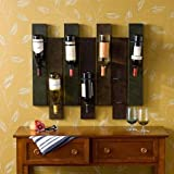 Artistic Design Southern Enterprises Florenz Open Wall Mounted 7 Bottles of Wine Storage Racks, Distressed Earth Tone Finish