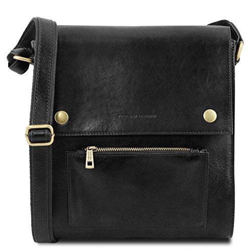 con en Miel Piel Negro Bolso Oliver Hombre para Delantero Tuscany Leather Bolsillo xvXBAqq0