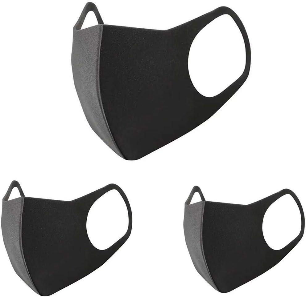 Máscaras faciales médicas de 3 Piezas, máscaras quirúrgicas Lavables Reutilizables con 2 Ganchos elásticos para Las Orejas, máscaras bucales de algodón a Prueba de Polvo, Transpirables y cómodas