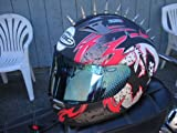 Motorcycle Helmets Streetbike Peel and Stick 3 M Metal Mohawks Helmet Spikes Mohawk Spike 1