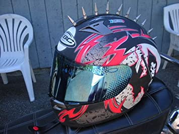 PC Racing Peel and Stick Helmet Mohawk Black