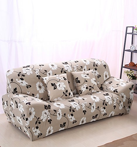 High Elasticity Fabric Sofa Slipcover Couch Cover Protector Three-Seater 74-90 Inch Pattern9