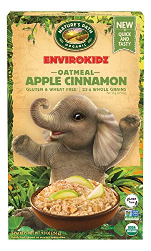 (EnvirokidzOrganic Gluten-Free Instant Hot Oatmeal, Apple Cinnamon, 9 Ounce)