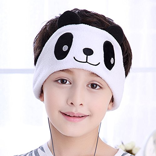Kids Headphones - NEW RELEASE - Easy Adjustable Kids costume Headband Headphones - Super Comfortable Soft Fleece Headphones for Children, Perfect for Travel and Home - Chinese Panda