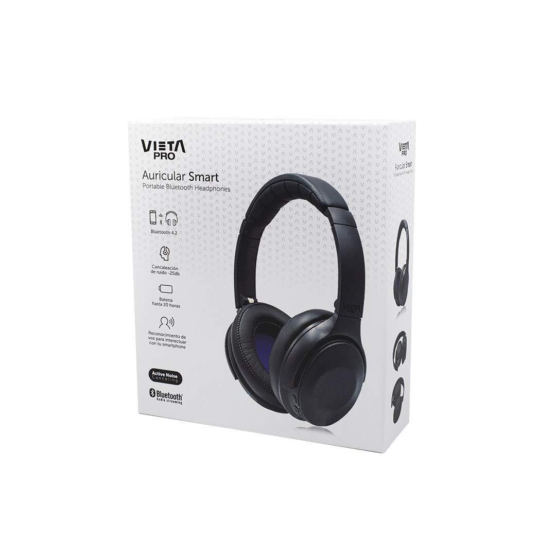 Vieta Pro Smart - Auricular Bluetooth con cancelación de Ruido, Color Negro: Amazon.es: Electrónica