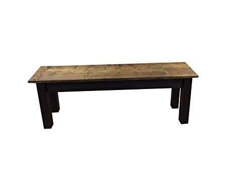 Wondrous Dark Walnut And Black Bench 42 Theyellowbook Wood Chair Design Ideas Theyellowbookinfo