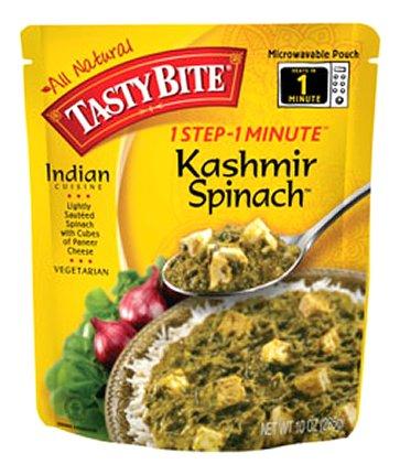 Tasty Bite Entrees Indian Cuisine Kashmir Spinach, 10 Ounce (Bite Tasty Spinach)
