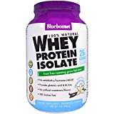Bluebonnet Nutrition, 100% Natural Whey Protein Isolate, Natural French Vanilla, 2 lbs (924 g) - 3PC