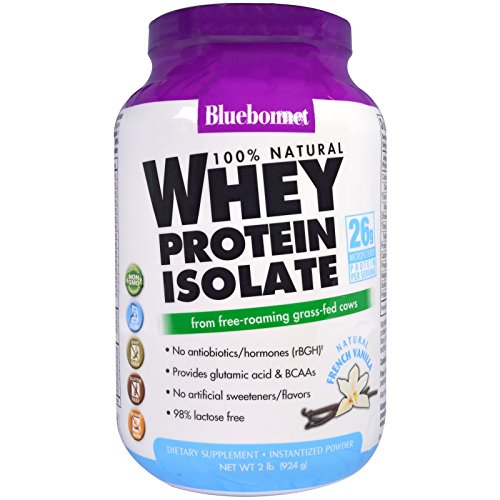 Bluebonnet Nutrition, 100% Natural Whey Protein Isolate, Natural French Vanilla, 2 lbs (924 g) - 3PC by Bluebonnet Nutrition