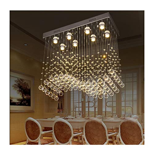Y.H.Valuable Pendant Lights LED K9 Deluxe Crystal Chandelier Lighting Fitting Modern Raindrop Pendant Ceiling Light - Indoor Decorative Design Lamp Dining Table Chandelier -Lighting & Ceiling Fans