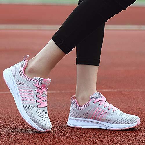 Course Vif de Rose de Gymnastique Femme Gris 36 Gris GongzhuMM Chaussures Basket Sneakers Yoga 40 Chaussures de EU Chaussures Occasionnels Noir 6qw0XZc