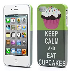 Slick Shell(TM) Keep Calm and Eat Cupcakes Hard Plastic Case for Apple iPhone 4/4S by icecream design