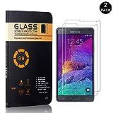 Galaxy Note 4 Tempered Glass Screen Protector, UNEXTATI® Premium HD Clear Anti Scratch