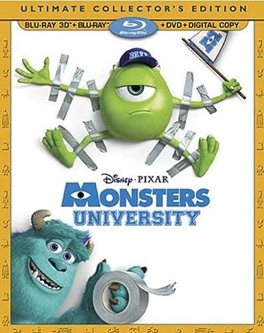 Amazon com: Monsters University (Blu-ray 3D + Blu-ray + DVD