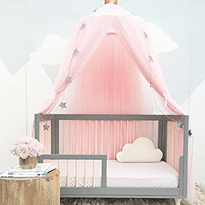 Bed Canopy for Girls/Boys/Baby Games House, Mosquito Net for Bed Kids Playing/Reading, Round Dome Netting Curtains Mosquito Net Bed Canopy Play Tent